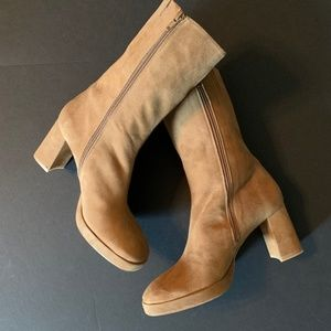 Brand New Miista Suede Mid Shaft Boots